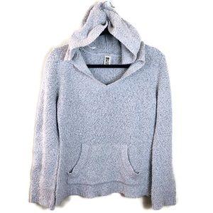 Roxy Hoodie Gray Knit Sweater Sz XL